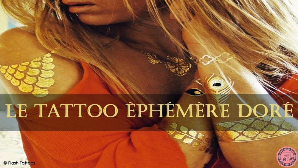 Le Tattoo Éphémère Doré
