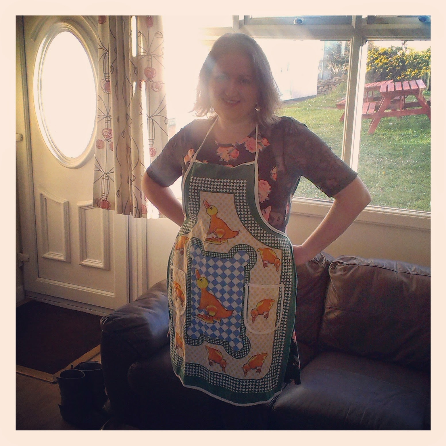 Easter kitchen apron