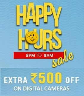 Snapdeal : Buy Cameras at flat Rs 500 off