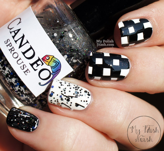 Black And White Checkered Nail Designs Black And White Checkered