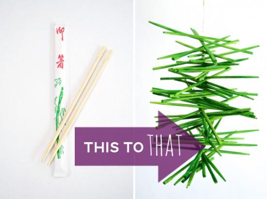 Cómo hacer un móvil con palillos chinos en Recicla Inventa