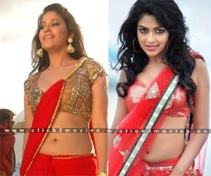 HOT HEROINES WITH RED SAREES