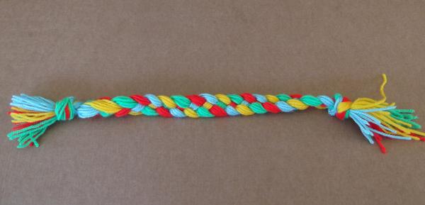4 strand braid, 4 color braid, knitting yarn braid