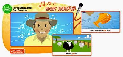 http://raisingchildren.net.au/baby_karaoke/baby_karaoke_landing.html