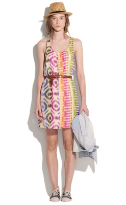 Bright Ikat Dress