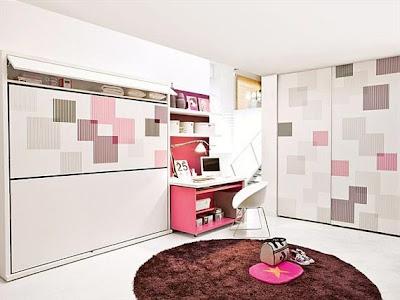 dormitorio dos hermanas moderno y flexible