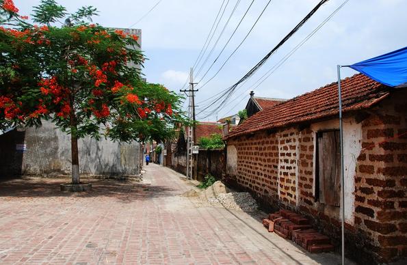 Những ngôi nhà với tường bằng đá ong
