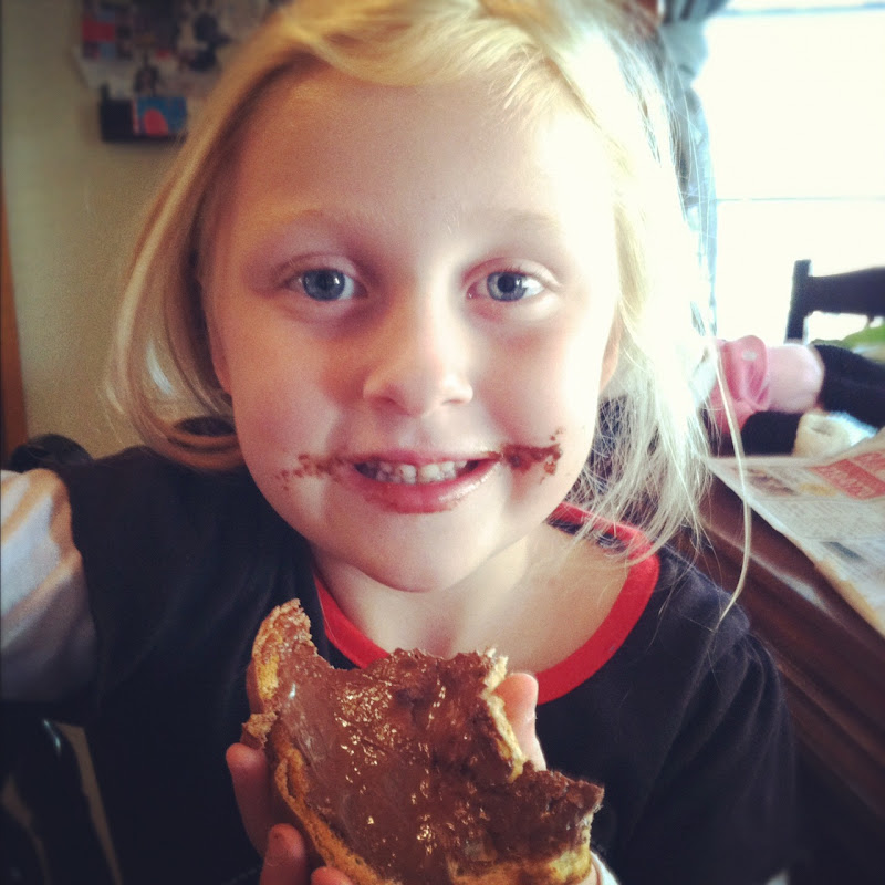 Daddy made her Nutella toast for breakfast that morning before the  title=