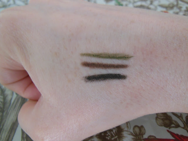 Lord and Berry smudgeproof eye liner swatches