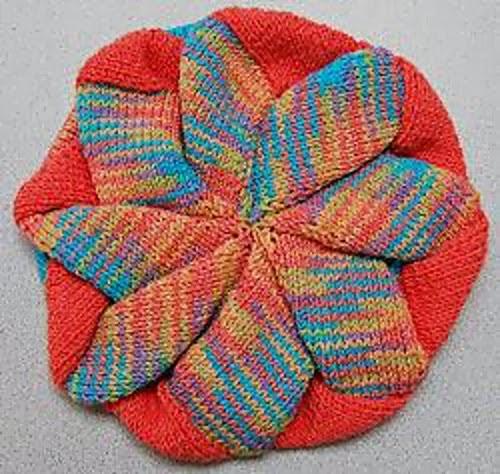 Knitting Pattern Entrelac Hat : Panda Entrelac Baby Hat - Intermediate Skill Entrelac Knitting Patterns
