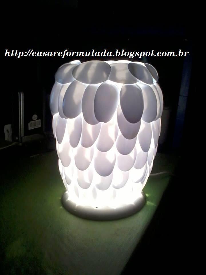 Luminária feita pela leitora Ana