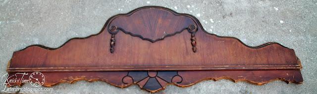 Antique Foot Board Salvage into Coat Rack - www.knickoftime.net