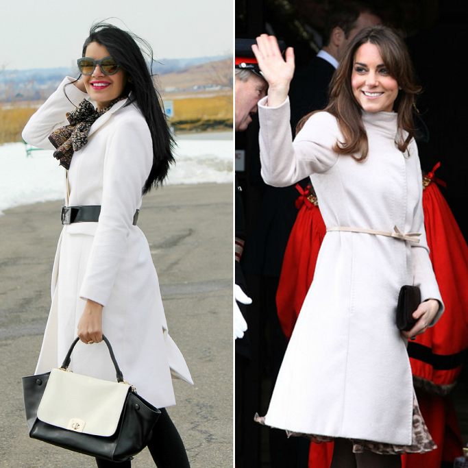 Kate Middleton White Coat Look For Less