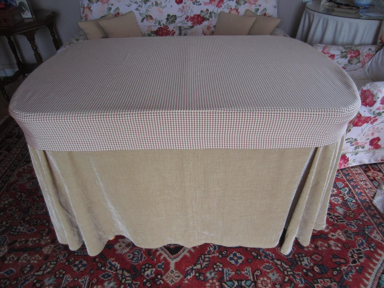 Patrones de costura falda de camilla ovalada o irregular - Faldas mesa camilla ...