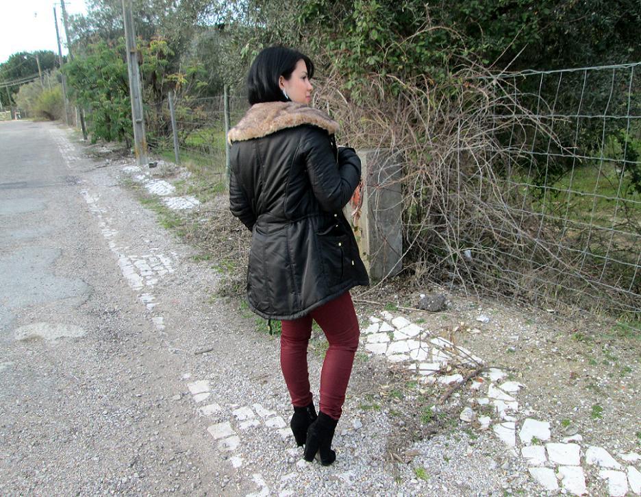 outfit, look, casaco zara, calças stradivarius,botas zara
