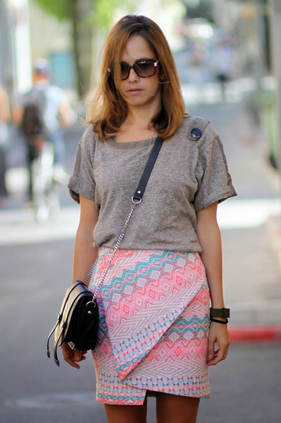 lookoftheday, wrapskirt, zaradaily, ss15, streetstyle, Iro, adidashoes, fashionblog, אופנה, בלוגאופנה, סטייל