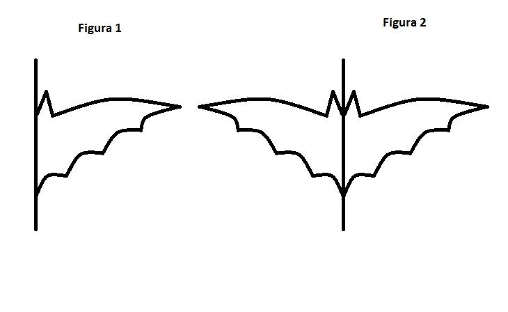 tons de negro como fazer o molde de morcego silhueta estilizada