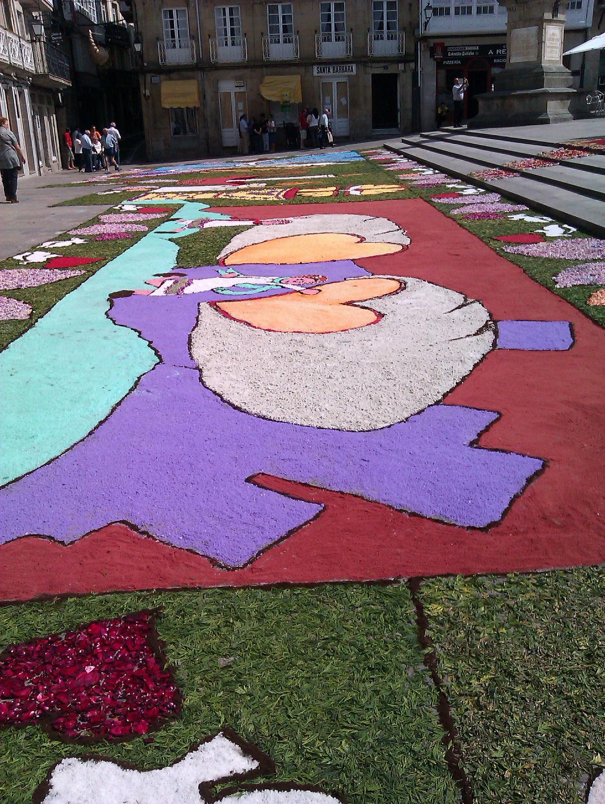 Cofrades de viveiro m s fotos de las alfombras florales for Imagenes de alfombras
