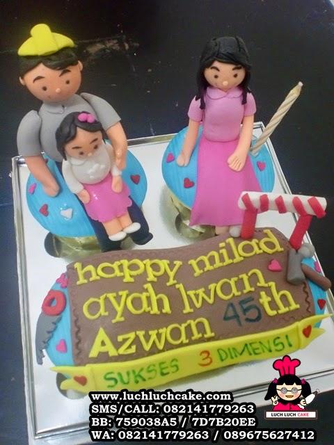 Cupcake Ulang Tahun Ayah Tema Kontraktor Daerah Surabaya - Sidoarjo