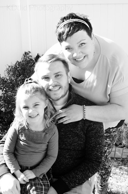 Black and White Family Picture