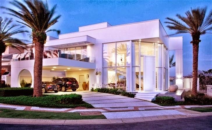 20 fachadas de casas com entradas principais modernas e for Best house designs in zimbabwe