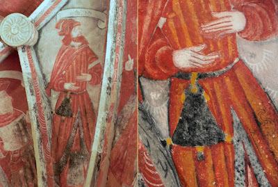 Fresco at the Church of Tauriac, France