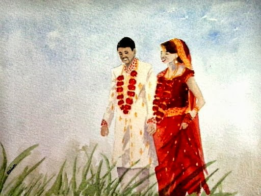 Painting Wedding Couple Copyrights And
