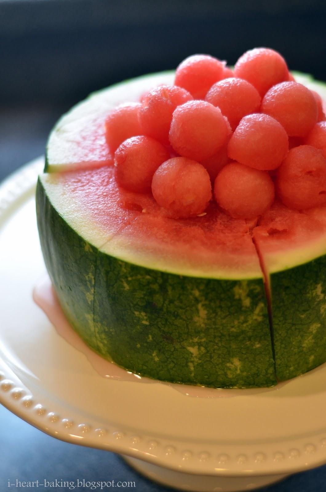 Watermelon Cake Watermelon cake