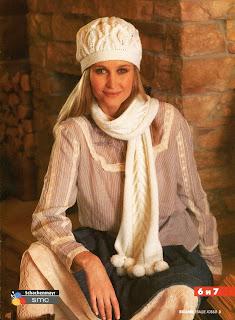 Вязание шапок спицами.  Описания и ... Описание и схемы вязания.  Вязаный .  Модная модель шапки спицами с описанием...