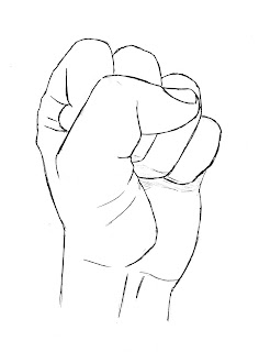 draw hand clenched fist finished