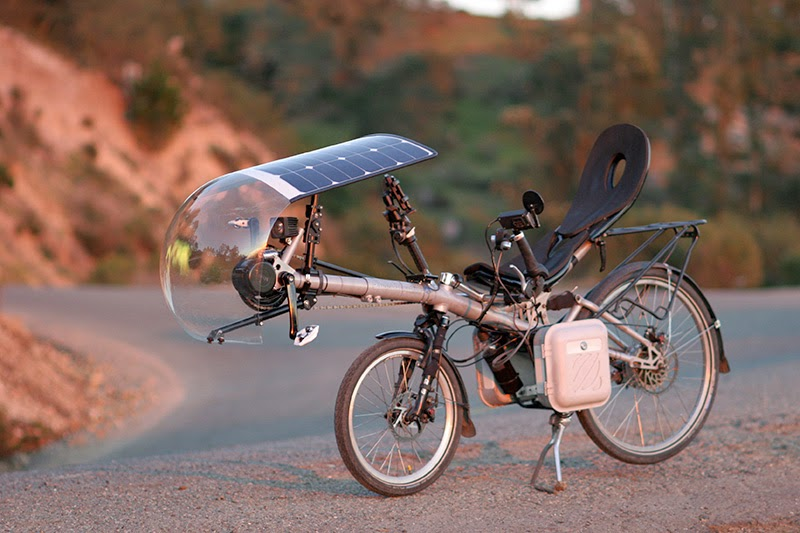 solar powered bike. Black Bedroom Furniture Sets. Home Design Ideas
