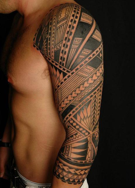 Tribal Full Sleeve Tattoo Designs for Men