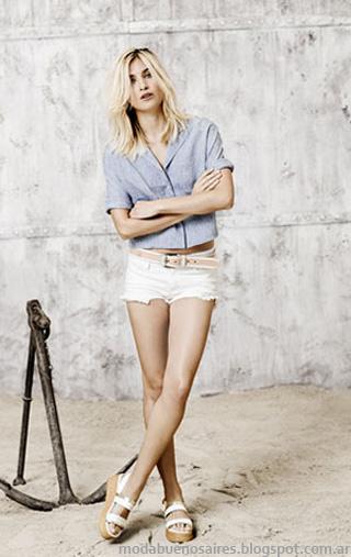 Moda 2014. Paula Cahen D'anvers verano 2014. Moda verano 2014. Short y camisa.