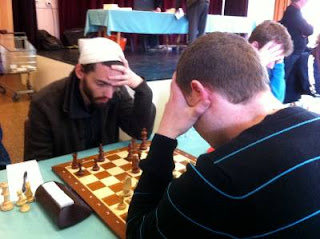 Ronde 3 - Gabriel Battaglini (2403) a surpris Jean-Pierre Le Roux (2550) © Chess & Strategy