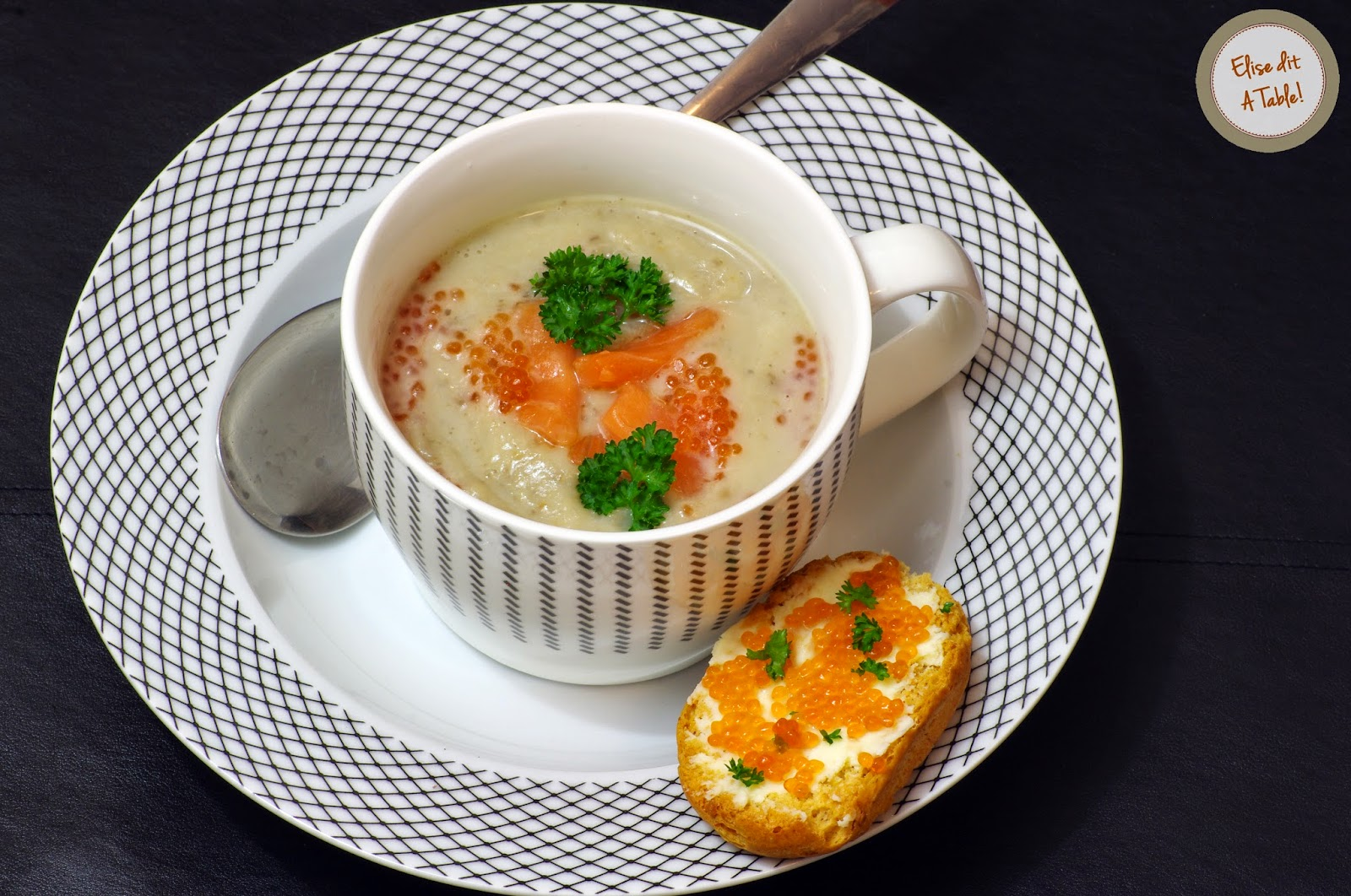 soupe topinambour champignon saumon