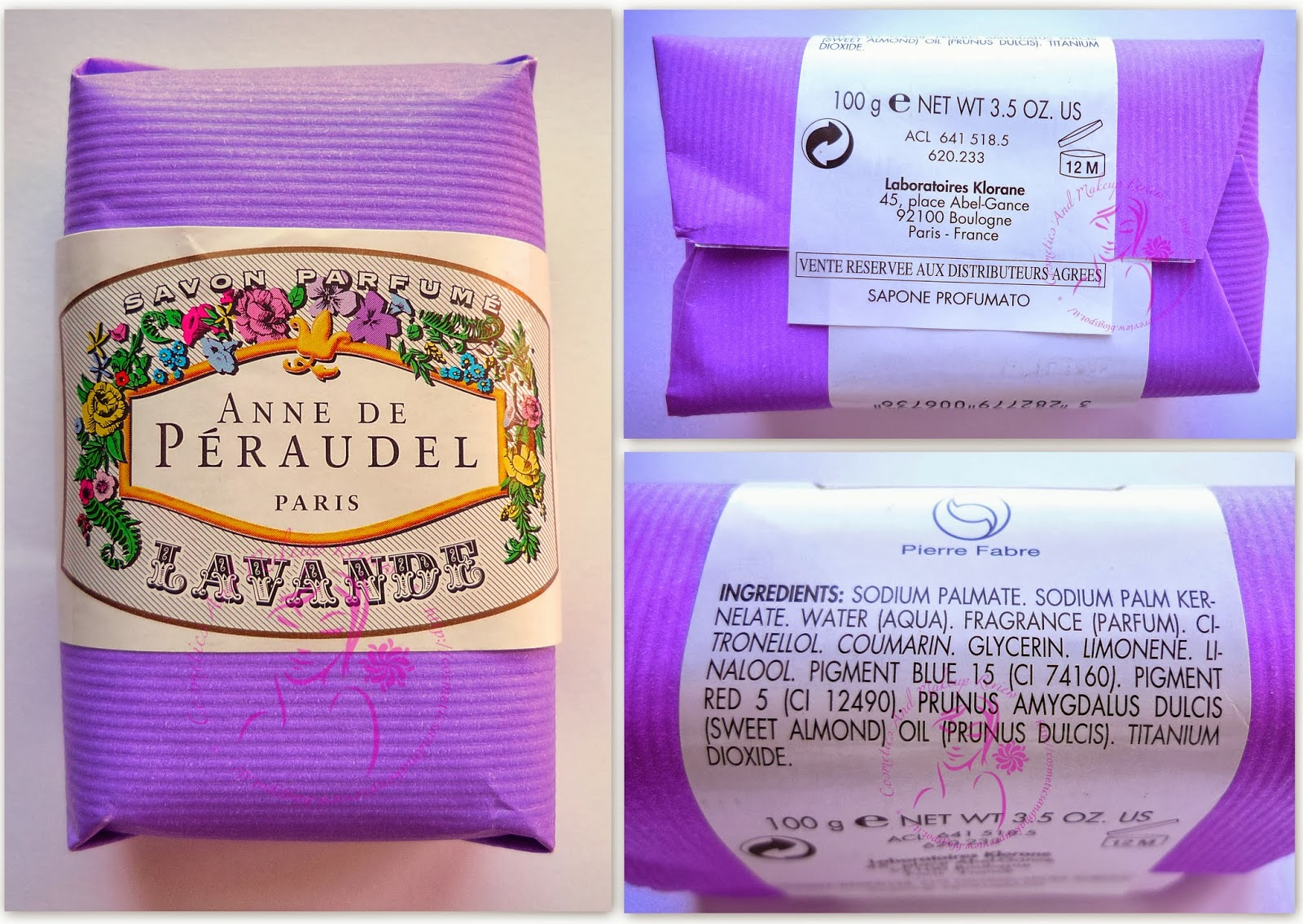 Laboratoires Klorane - Anne De Péraudel - Sapone profumato alla Lavanda - packaging