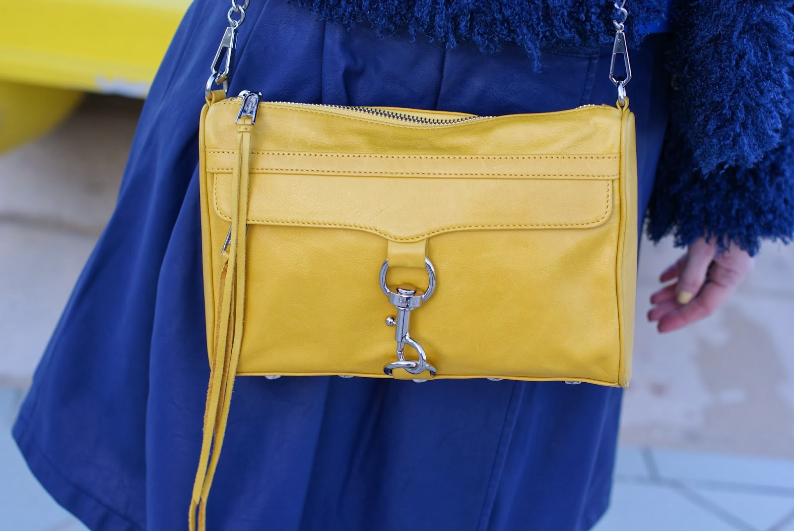 yellow Rebecca Minkoff M.A.C. clutch, Fashion and Cookies, fashion blogger