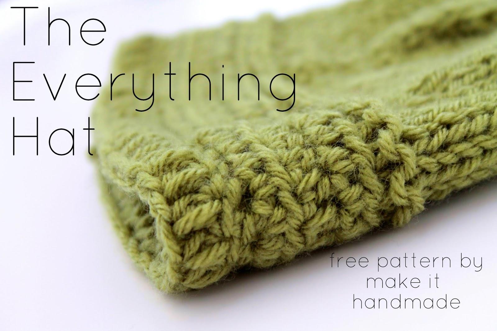 Make It Handmade: The Everything Hat-- Free Pattern