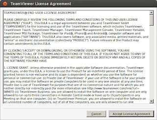 License agreement Teamviewer