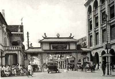 Gerbang Jalan Kesawan Dulu