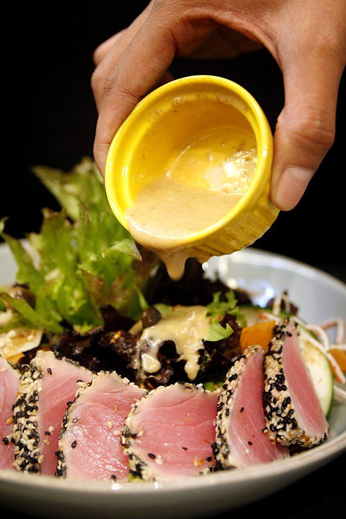 Le Petit Soufflé Sesame Crusted Tuna Salad