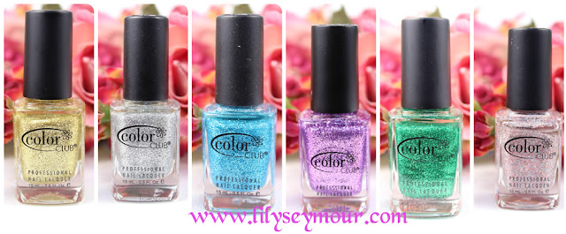 Color Club Glitter Collection Review and Swatches
