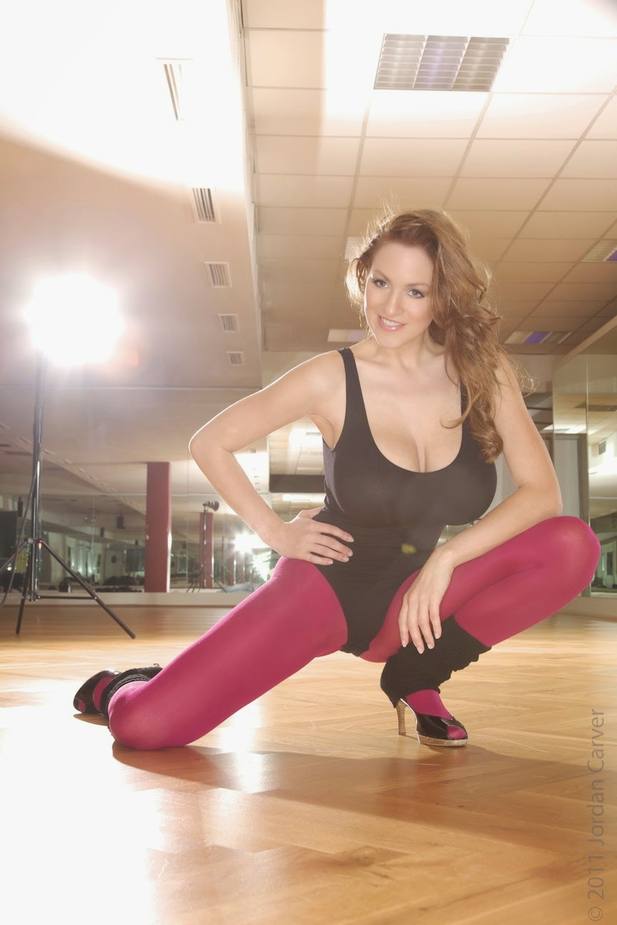 Jordan Carver Flash Dance Expose in Colorful Track Suits