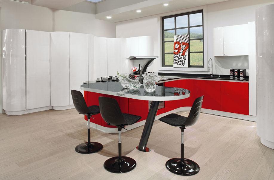Octubre 2012 cocinas con estilo for Cocina roja y negra