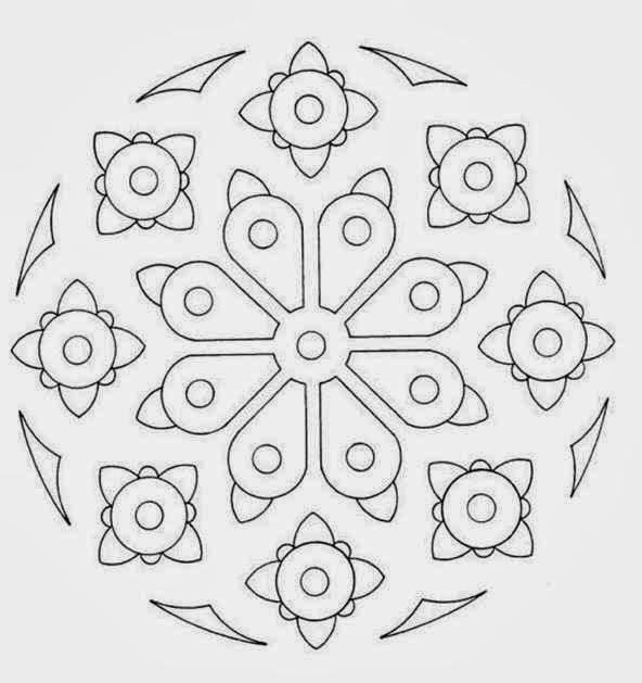 35 Spring Beginner Mandala Coloring Pages