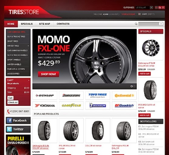 Tires Blogger Template