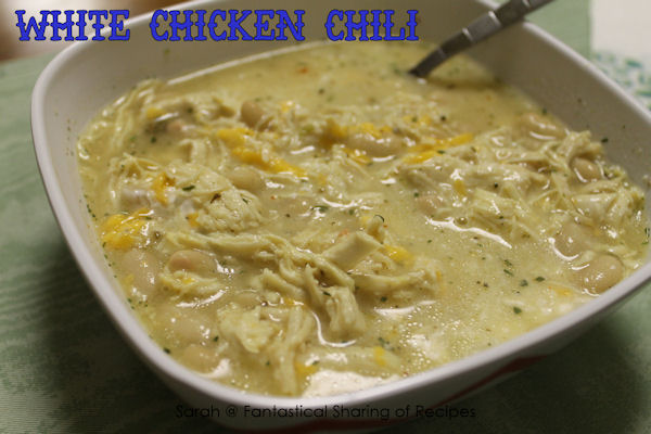 White Chicken Chili - a chili variation using chicken with a tiny bite!