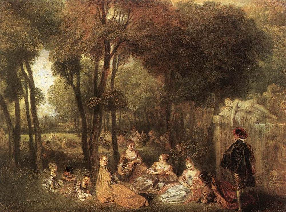 Maher art gallery jean antoine watteau 1684 1721 a for French rococo period