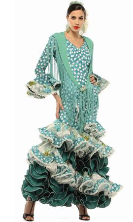 traje de flamenca verde El Corte Inglés 2013