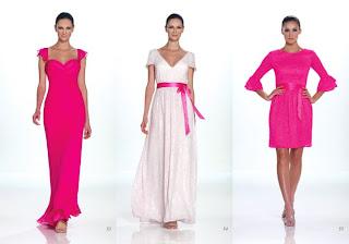 Vestidos Kathy Hilton 2012 color fucsia